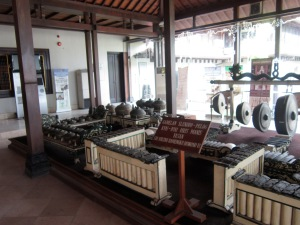 Gamelan at the entrance to Museum Sonobudoyo.