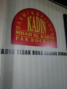 Bakmi Kadin Yogyakarta.