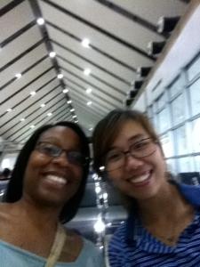 Pre-trip selfie at the airport.