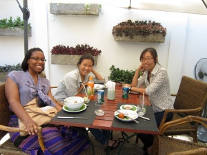 Lunch with Mai Lan and Khanh in Luang Prabang.